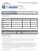 Commercial Special Inspection And Testing Request Form