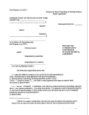 Petition For Termination/severance Of Lease Or Rental Agreement - New York Supreme Court