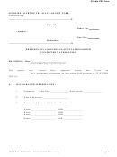 Preliminary Conference Stipulation/order Contested Matrimonial - New York Supreme Court