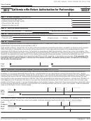 Form Ftb 8453-p - California E-file Return Authorization For Partnerships - 2013