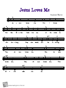 Bradbury/warner - Jesus Loves Me Sheet Music