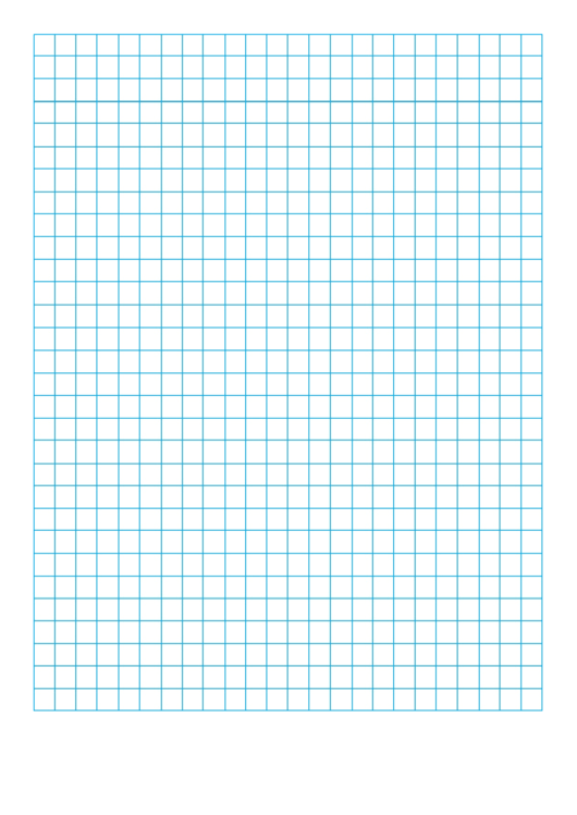 Blue Graph Paper With Narrow Margins Printable pdf