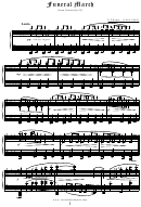 F.chopin - Funeral March Sheet Music