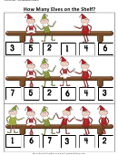 How Many Elves On The Shelf Kids Activity Sheets