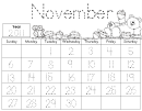 November Calendar Math Journal