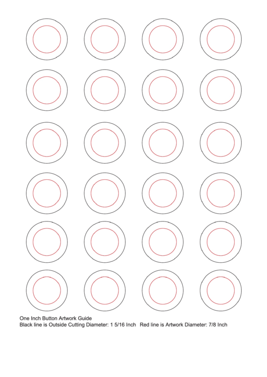 Top 5 1 Inch Button Templates free to download in PDF format