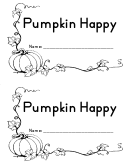 Pumpkin Happy (with Dots To Help Pointing To The Words) Kids Activity Sheets