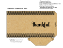 Thankful Silverware Box Template