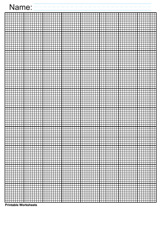 Black Inch Graph For Knitting Template