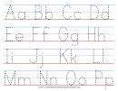 A-z And 123 Tracing Worksheets