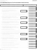 Form 45687 - Michigan Business Tax Nonrefundable Credits Summary - 2014