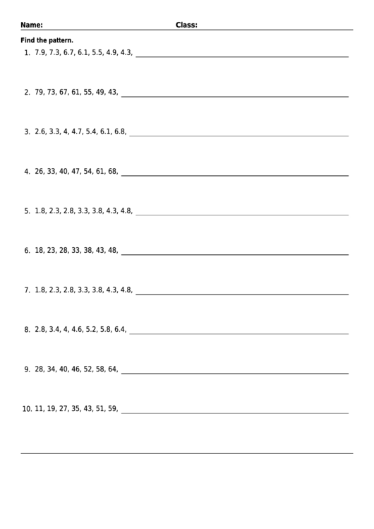 Mixed decimal number patterns worksheet with answer key printable mixed decimal number patterns worksheet with answer key printable pdf ibookread ePUb