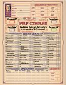 Pulp Cthulhu Character Personality Sheet