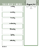 Meal Planning Shopping List Template