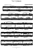 C.debussy - Two Arabesques Sheet Music