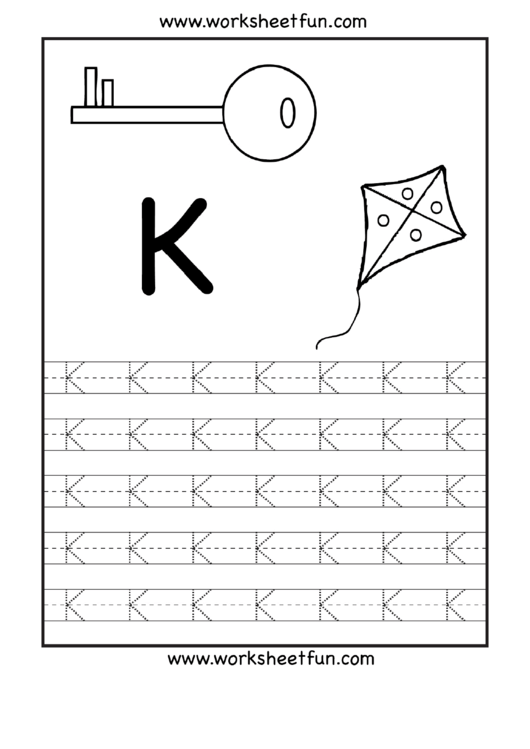 Letter K Tracing Template