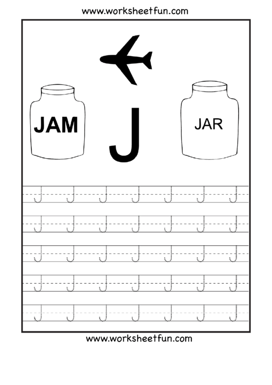 Letter J Tracing Template