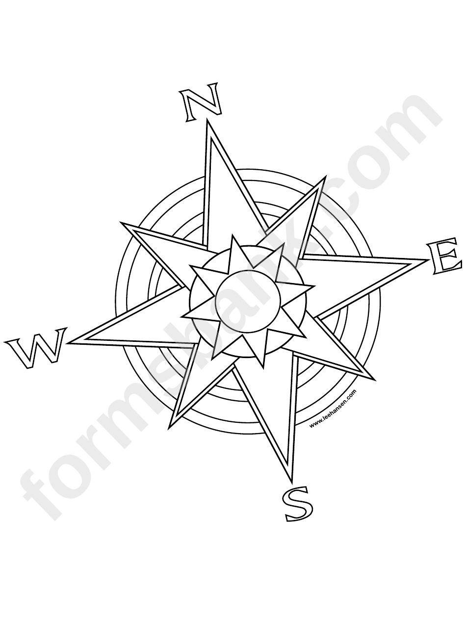 compass rose template printable pdf download