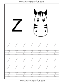Letter Z Tracing Template