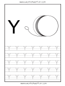 Letter Y Tracing Template