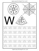 Letter W Tracing Template