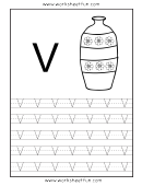 Letter V Tracing Template
