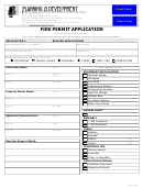 Fire Permit Application - California Planning Development