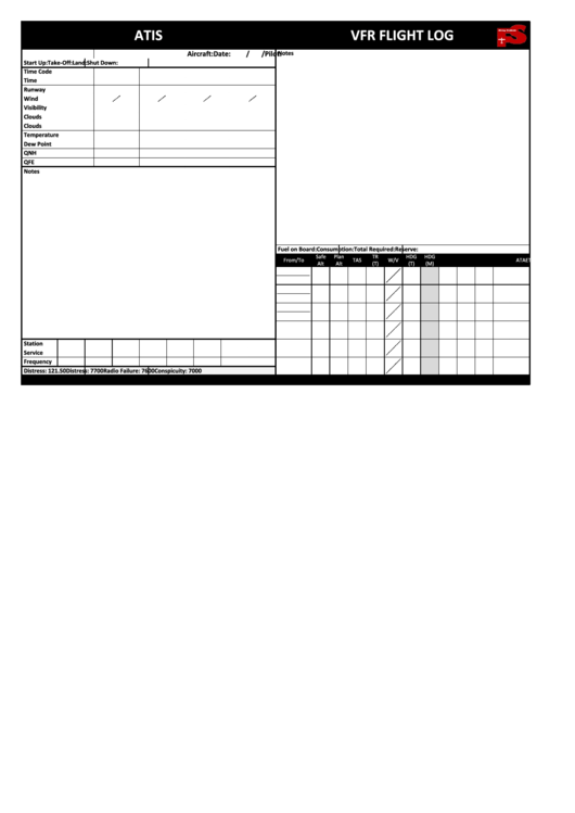 Top Vfr Flight Plan Form Templates free to download in PDF
