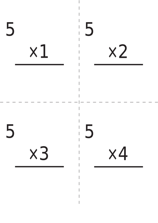 multiplication flash card templates