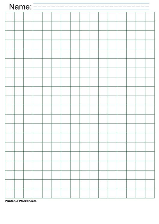 Green Half Inch Graph Paper Printable pdf