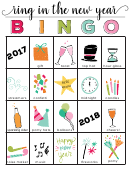 ring in the new year color bingo cards template 2017 2018