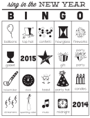 ring in the new year black and white bingo cards template 2014 2015