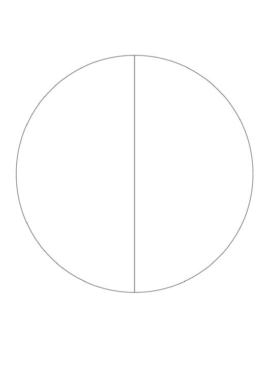 Pie Chart Template - 2 Slices Printable pdf