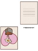 Valentine Flower Card Template
