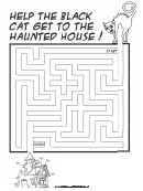 Haunted House Cat Maze Game Template