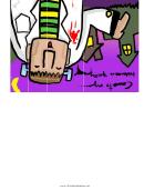 Halloween Party Invitation - Frankenstein