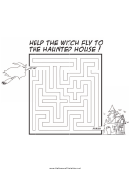 Witch Haunted House Maze Template
