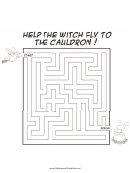 Witch Cauldron Maze Template