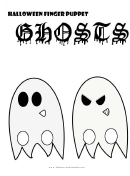 Halloween Finger Puppet Ghosts