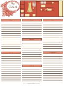 Wardrobe Checklist Template