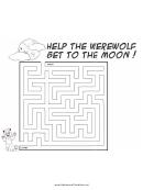 Werewolf Moon Maze Template