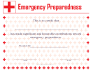 Emergency Preparedness Certificate Template