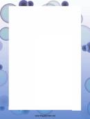 Blue Circles Page Border Templates