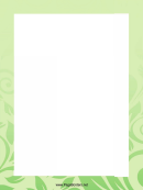 Green Leaves Page Border Templates