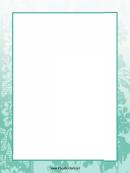 Blue Plants Page Border Templates