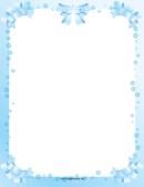 Blue Ribbons Page Border Templates