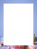 Blue And Brown Page Border Templates