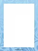Blue Plant Prints Page Border Templates