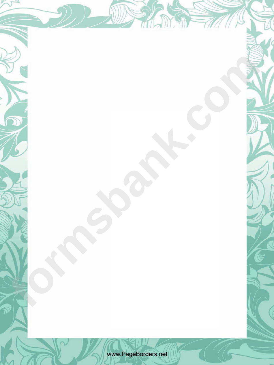 Plant Patterns Page Border Templates