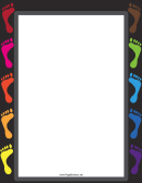 Colored Footsteps Page Border Templates